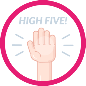 High Five for working together!